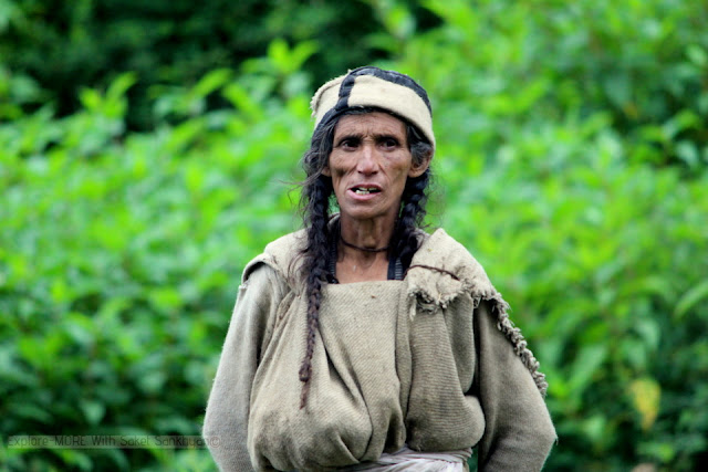 old woman in Malana