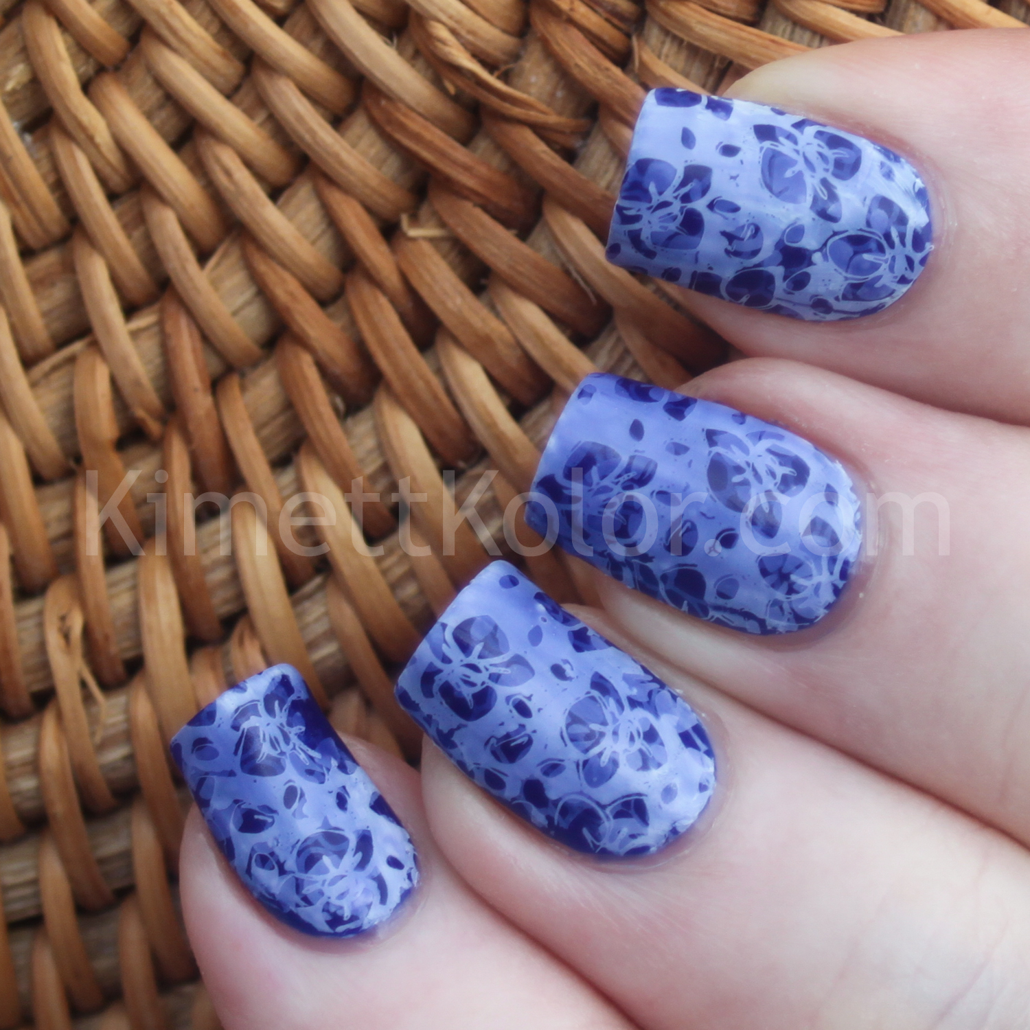 Nail Art Multiple Stamping Blue Kimett Kolor