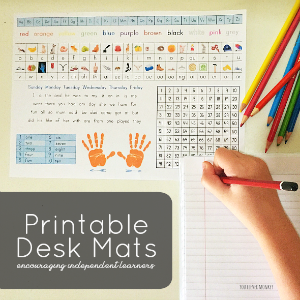 Printable Student Desk Mat - offering perfect support for beginning readers and writers | you clever monkey