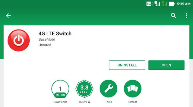 Cara Lock Jaringan 4G pada Hp Android - Aplikasi 4G LTE Switch
