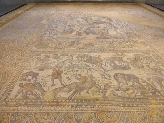 Mosaico de Ulises en la Villa Romana La Olmeda