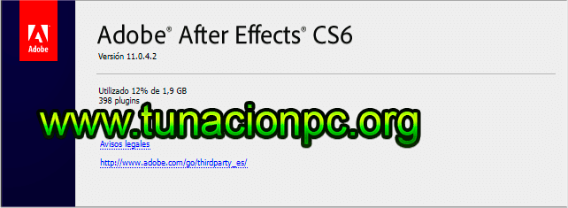 Adobe After Effects CS6 para windows y macos