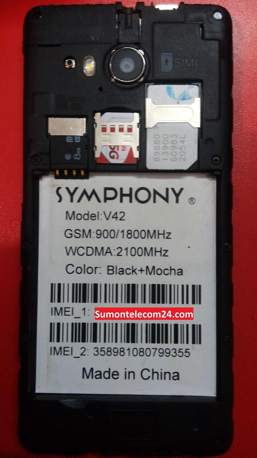 Symphony V42 Flash File (FRP Remove Flash File) Without