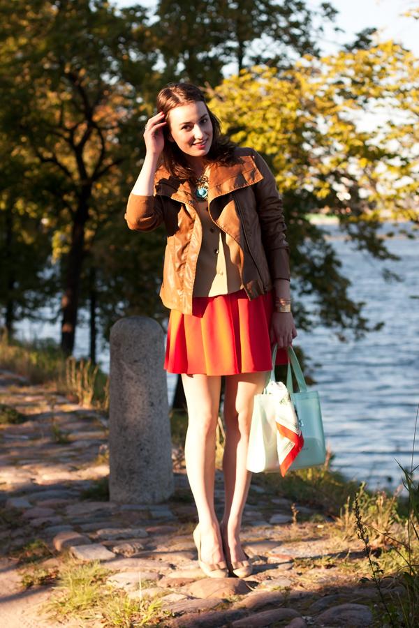 Red Skater Skirt