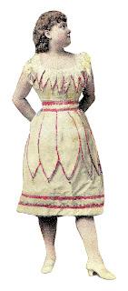 woman fashion dress antique digital download image
