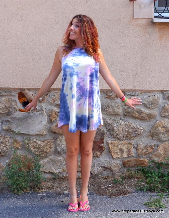 Vestido degradado colorines