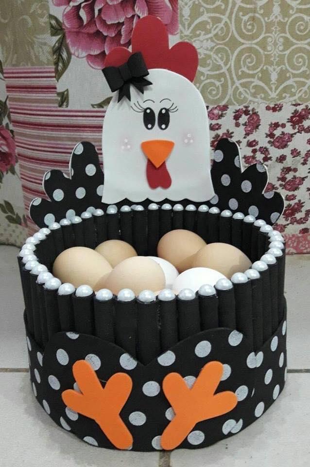 Canasta Para Huevos Manualidades.10 Ideas De Gallinitas Porta Huevos Para Decorar La Cocina