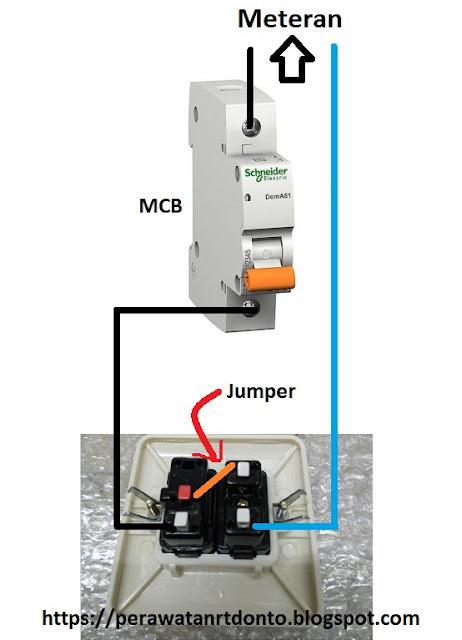 Ada kalanya kita akan memasang sebuah saklar yang bersatu dengan stop kontak Cara Membuat Jumper Saklar Ke Stop Kontak