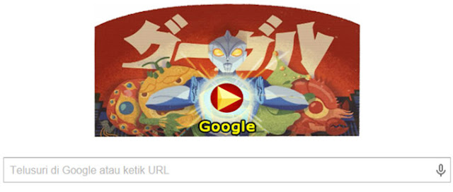 Google Doodle 114th Birthday Eiji Tsuburaya (7 Juli 2015)