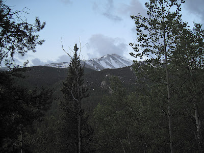 Mt. Elbert seen from the Mt. Massive trail