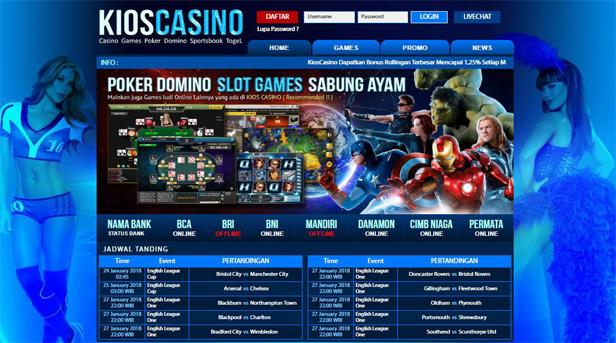 Kioscasino : Agen Judi sportbook Live Casino Indonesia Terbesar dan Terpercaya 2018 di Indonesia