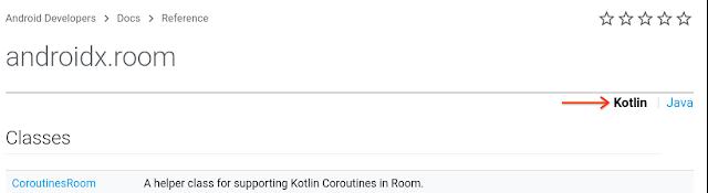 Visualizzazione di Kotlin della libreria AndroidX