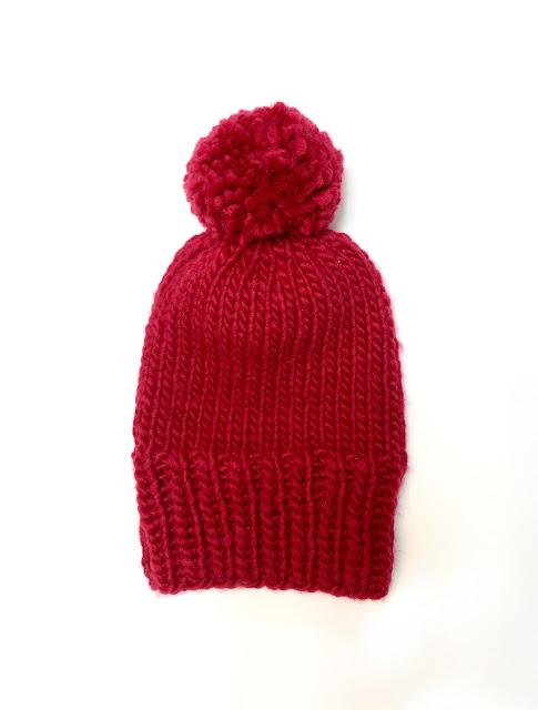 LONG BRIM HAT - RED
