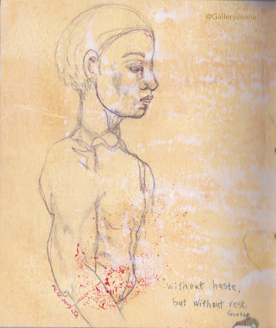 male figure sketch, gallery Juana