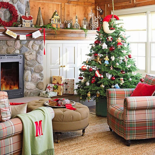 decoración sala navidad