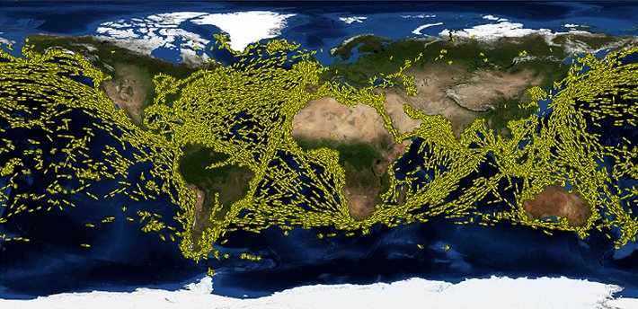 Ship Traffic from NASA (2010)
