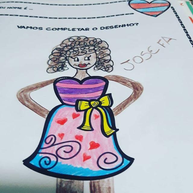 Atividade para o dia das mães de desenho com inferência