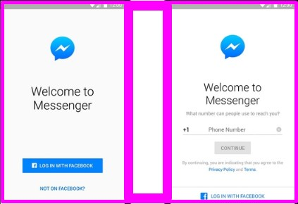 how to login in facebook messenger