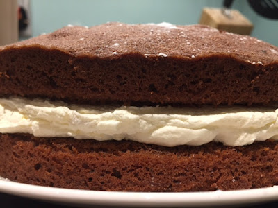 Chocolate Sandwich Cake side view