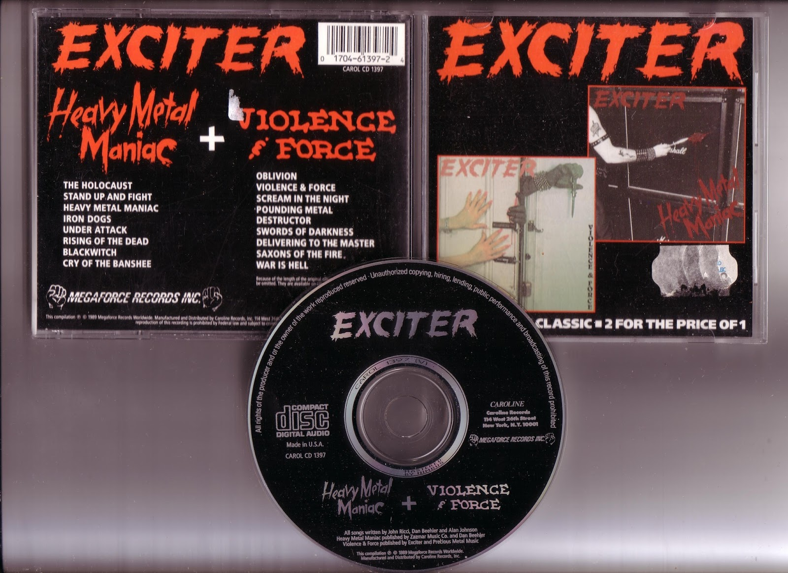 Source of Steel: Exciter – Heavy Metal Maniac / Violence