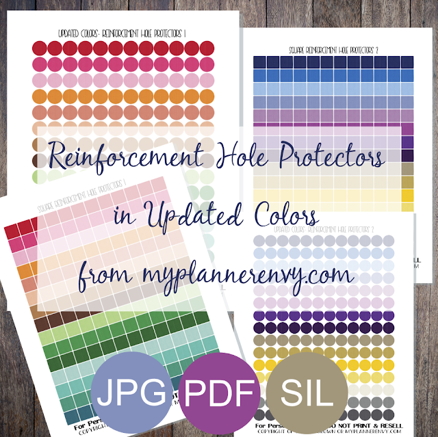 Free Printable Reinforcement Hole Protectors in Updated Colors from myplannerenvy.com