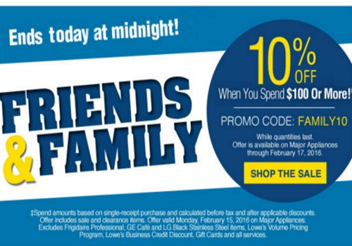 Lowes Friends & Family 10% Off Promo Code