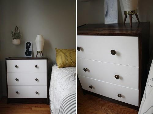 Little Corner House: Ikea Hack: Two-toned Rast Dresser