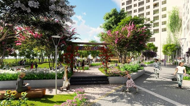 Phối cảnh vườn trẻ thơ Anland Complex