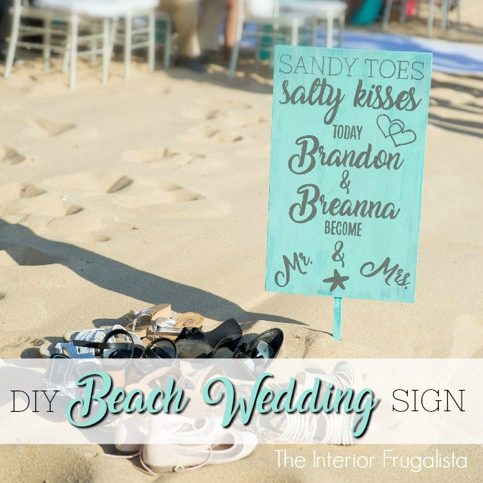 DIY Beach Wedding Sign