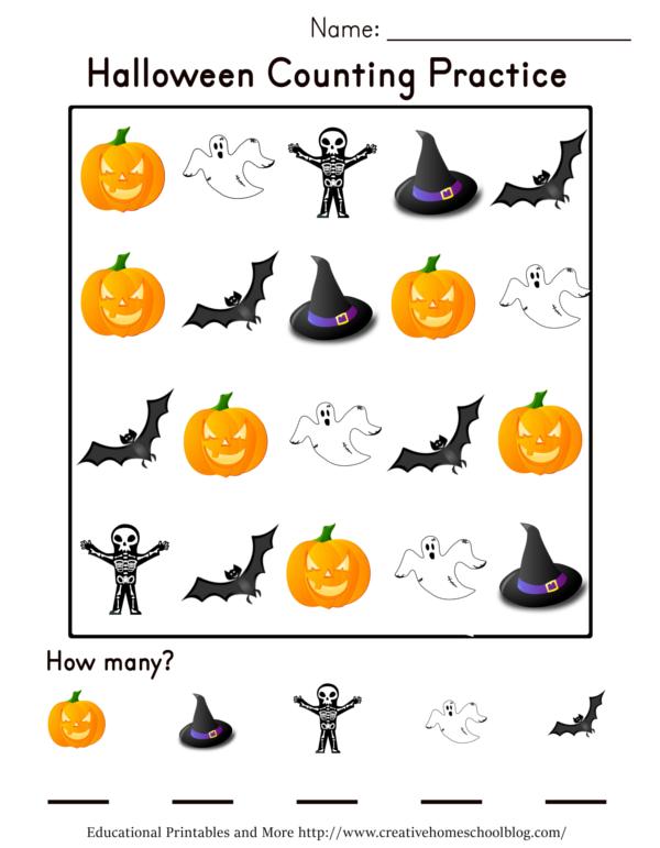 Creative Homeschool: Halloween Counting Practice