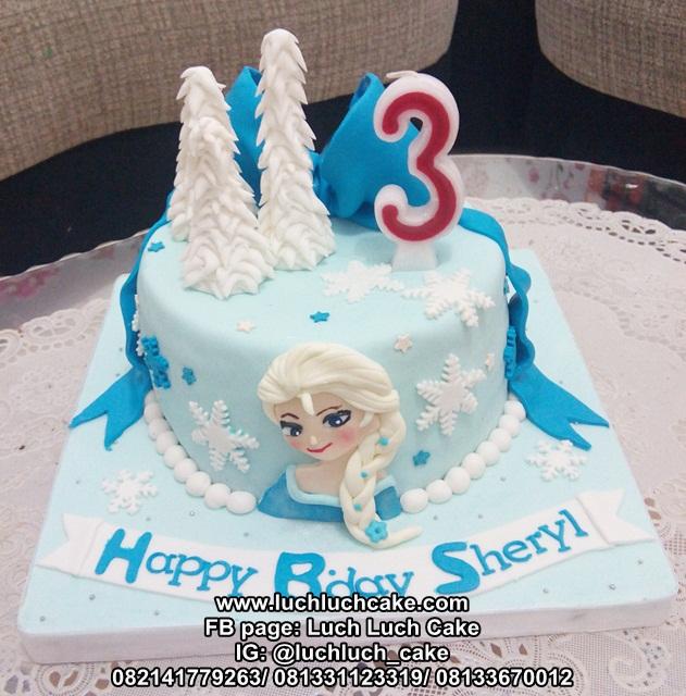 Kue Tart Fondant Frozen Birthday Cake