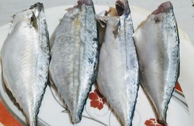 4 pieces of fresh mackerel bangda fish for bangda tawa fry Recipe
