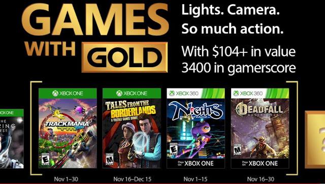 قائمة الألعاب المجانية على خدمة Xbox Live لشهر نوفمبر 2017