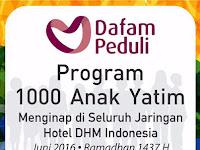 1000 Anak Yatim Diajak Menginap di Hotel