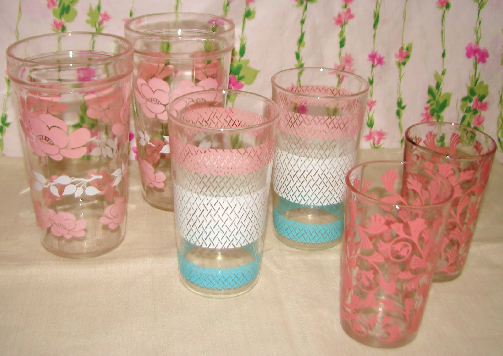 Farmhouse Drinking Glasses Farm Girl Pink The Best Of Hazel Atlas And Libbey