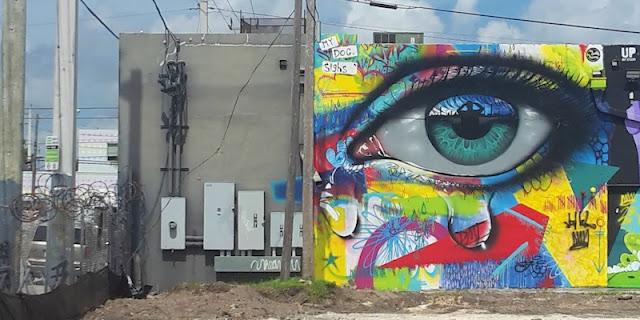 Eye streetart Miami