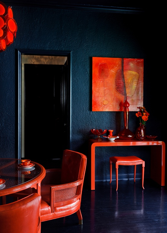 Eye For Design Decorating With The BlueOrange Color