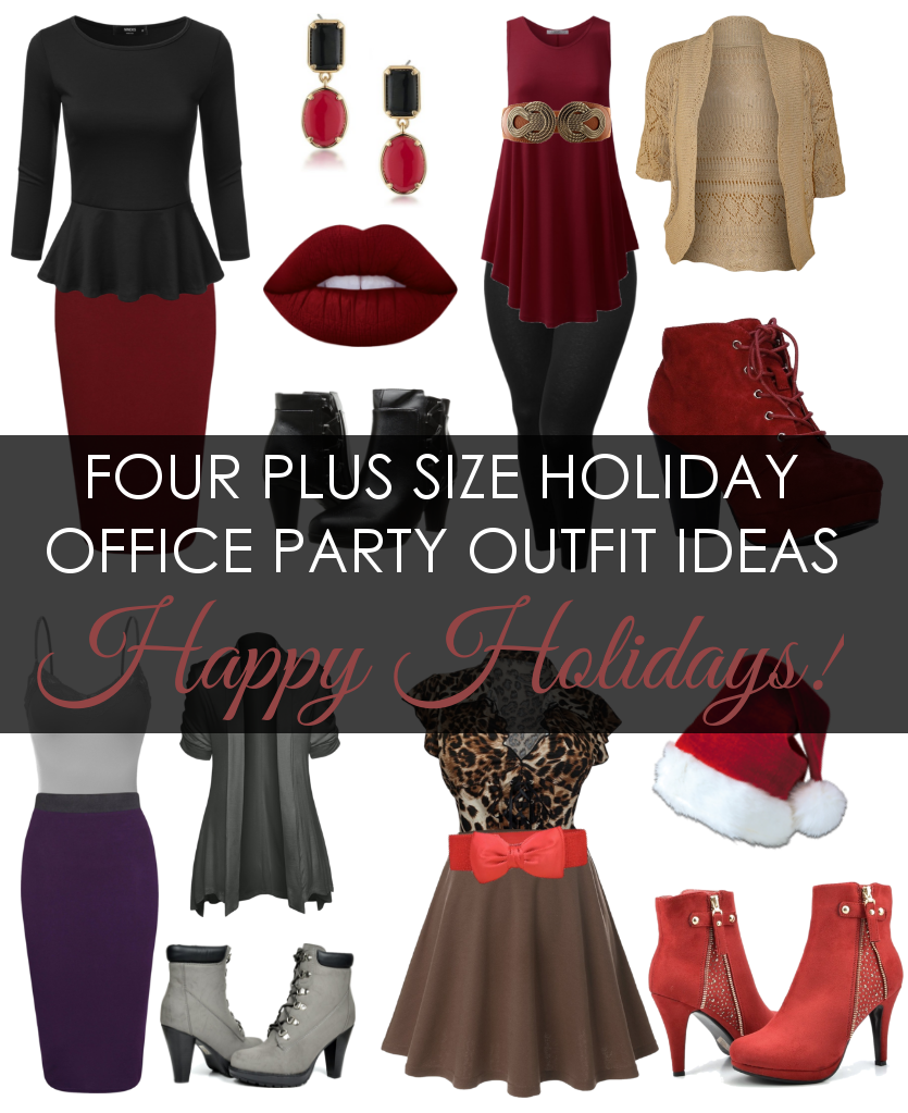 Freelance Lady: Plus Size Outfit Ideas for Holiday/Christmas Office ...