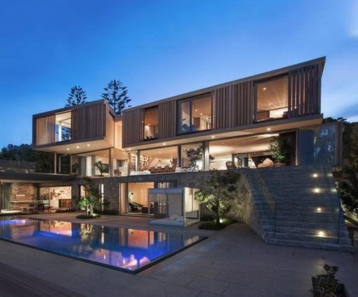 desain rumah minimalis sebagai villa mewah