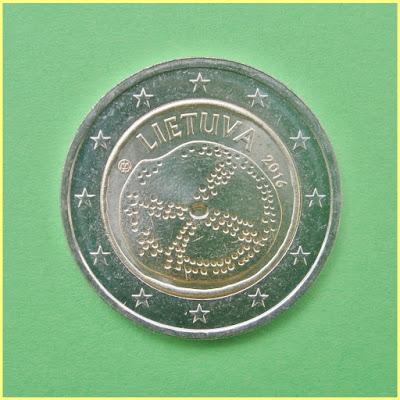 2 Euros Lituania 2016 Cultura Baltica