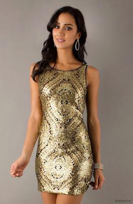 Vestidos de Noche Dorados