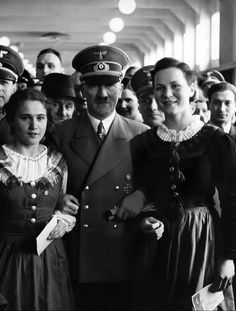 Adolf Hitler smiling worldwartwo.filminspector.com
