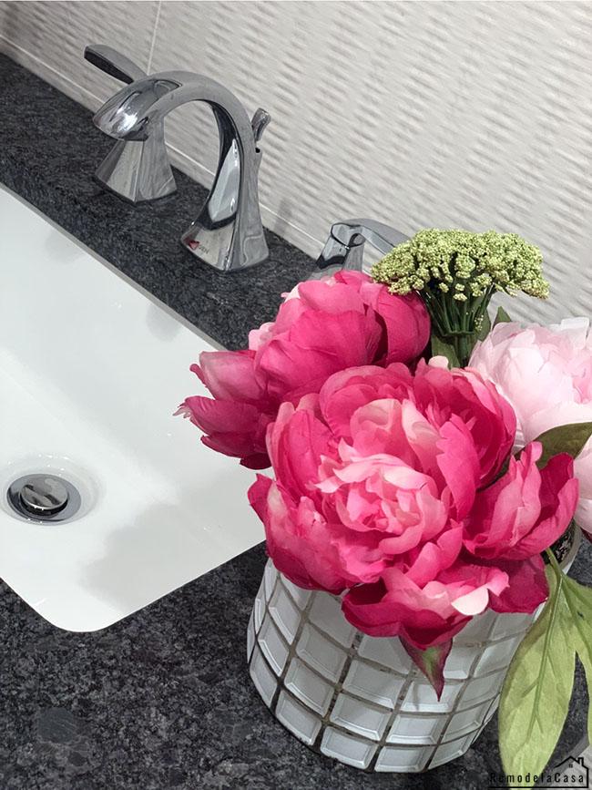 Moen faucet on Ikea floating vanity