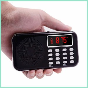 Portable FM Radio MP3 Player Recorder - OMSKF0BK