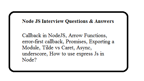 Node JS Interview Questions and Answers