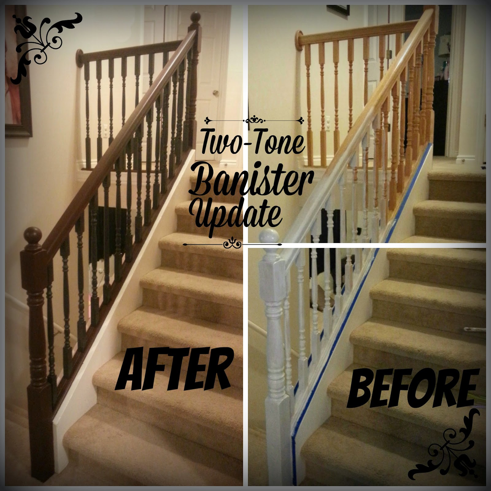 Good Times Two Tone Banister Update