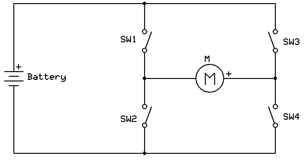 Ham Radio MIPL: H-Bridge Motor Driver using MOSFET's and