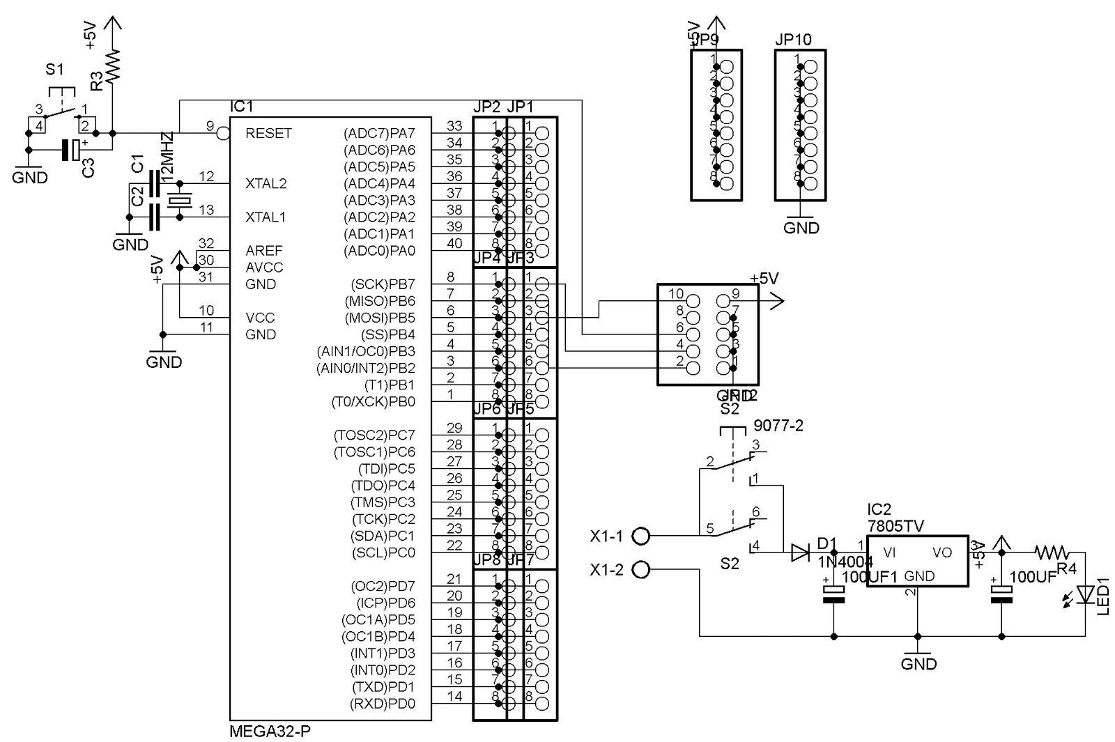 Teknik Elektro Rangkaian Minimum System Mikrokontroller