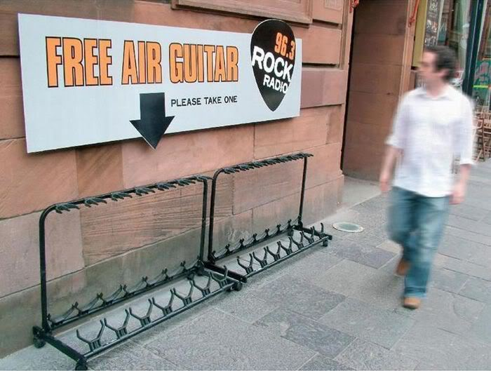 funny picture iamge free-air-guitar-rock-radio