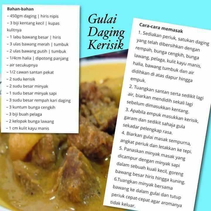 resepi gulai daging kerisik